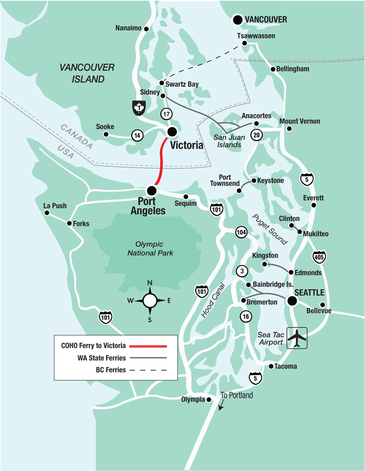 The Route | Black Ball Ferry Line | Daily Departures to Victoria and ...