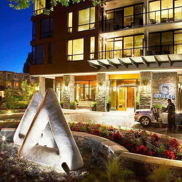 The Oswego Hotel With Ferry Black Ball Ferry Line