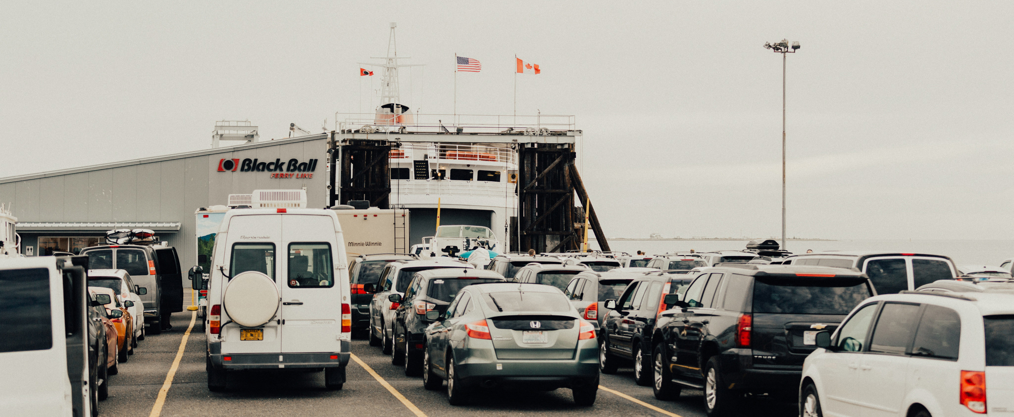 Driveon Passengers Black Ball Ferry Line Daily Departures To - Port angeles car show